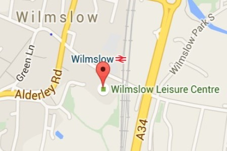 Map of Wilmslow Leisure Centre